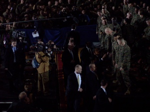 President Obama thanks the Marines
