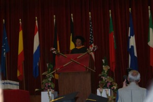 Pam at Heidelberg UMUC Commencement